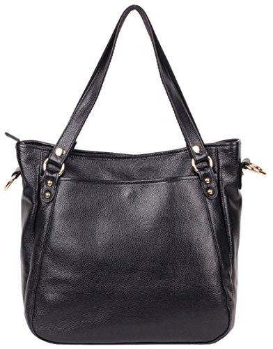 Heshe® Women New Fashion Genuine Leather Tote Cross-body Shoulder Handbag Hobo Clutch Bag Top Handbag Simple for Ladies