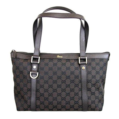Gucci Canvas Brown Abbey Tote Purse Handbag 272399
