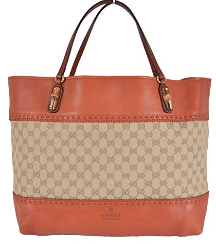 Gucci Women's Laidback Crafty GG Guccissima Bamboo Handbag