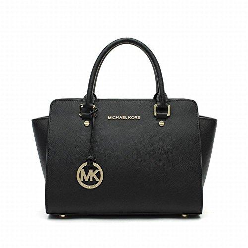Michael Kors Women Large Tz Satchel Handbags Purses Black