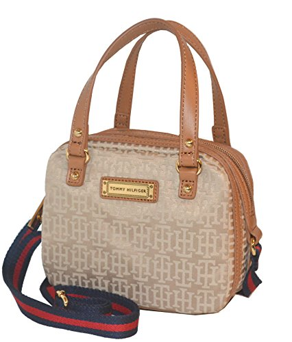 tommy hilfiger signature cv duffle crossbody bag purse