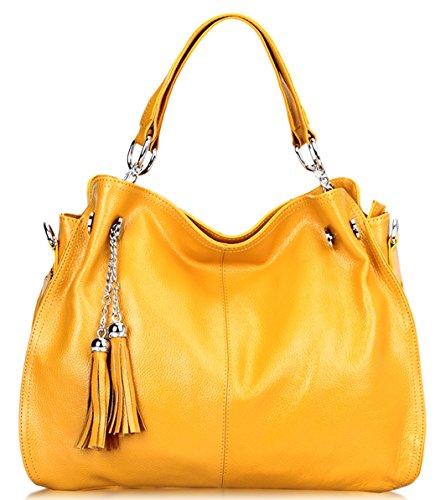 SAIERLONG Womens European And American Style Cowhide Messenger bag handbag shoulder bag