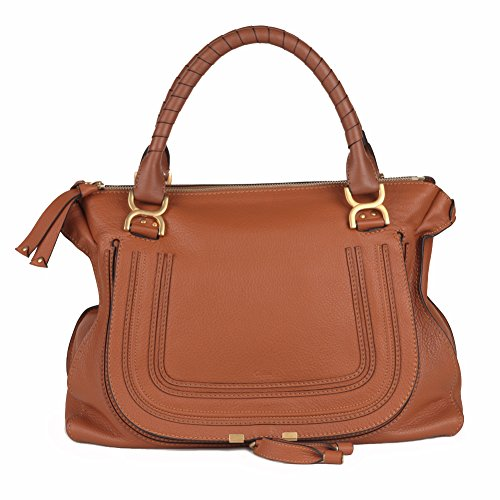 Chloe Marcie Large Leather Handbag – Tan