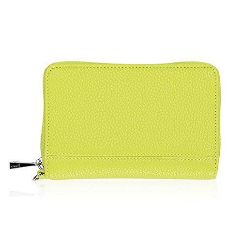 Thirty One Rolling Jewell Wallet in Citrus Lime Pebble – No Monogram – 8022