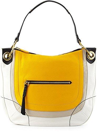 Oryany Samara Color Block Hobo Bag Sun Multi Leather