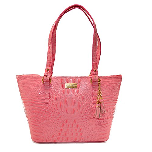 Brahmin NWT Med Asher Pink Lychee Melbourne Leather Tote L15151YC