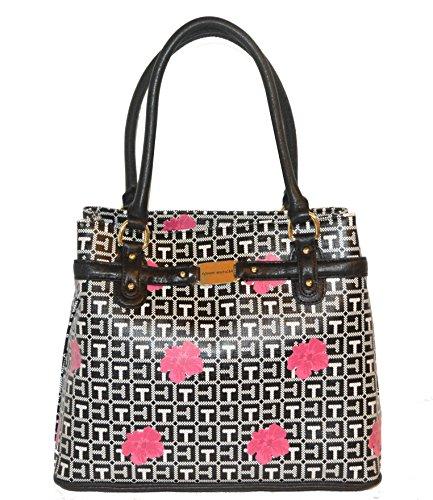 Tommy Hilfiger Signature Shopper Tote Handbag Purse Bag