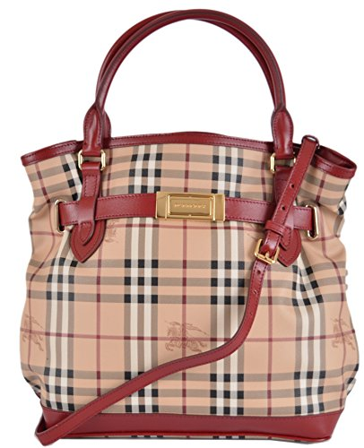 Burberry Women's Haymarket Nova Check Crossbody Hobo Purse