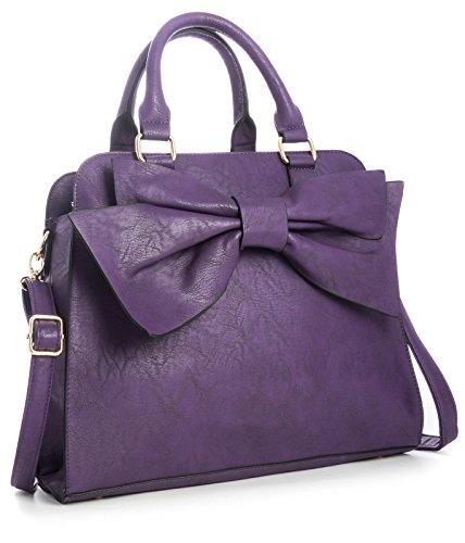 Big Handbag Shop Women Designer Boutique Large Bow Top Handle Satchel Bag