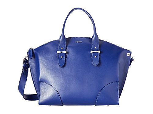 Alexander McQueen Legend Leather Zip Satchel Bag (Ultramarine)