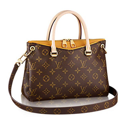 LOUIS V BAGS Monogram Handbags for Women Original:MONOGRAM CANVAS PALLAS BB DUNE of Coated Leather Wallet Canvas on Clearance