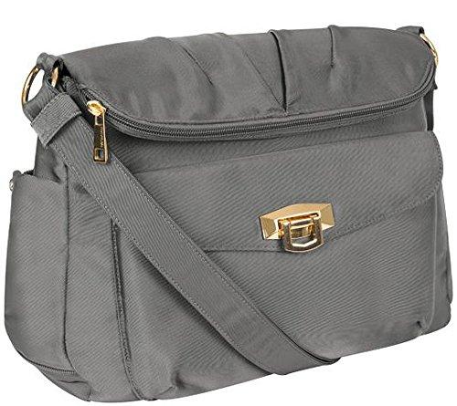 Travelon Pleated Flapover Bag Platinum