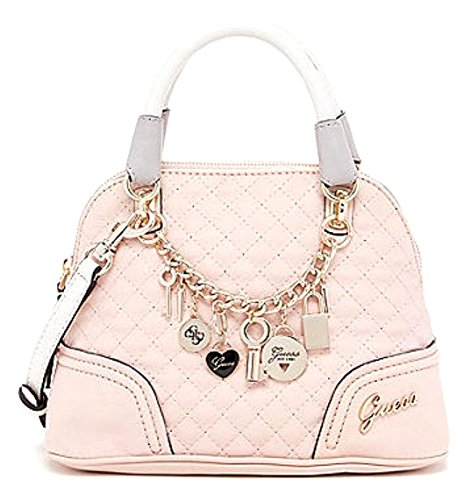 Guess Women's Rakelle Dome Satchel Bag, Light Rose Multi