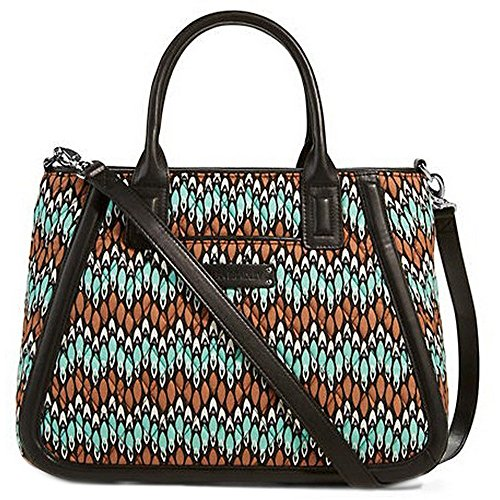 Gorgeous Vera Bradley Trimmed Trapeze Satchel Handbag in Sierra Stream Faux Leather Collection