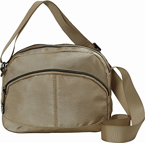 Travelon Twill Crossbody with RFID Protection Taupe