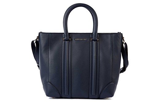 Givenchy women's leather handbag shopping bag purse lucrezia blu