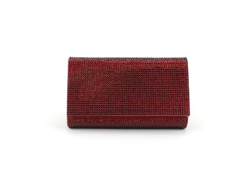 Judith Leiber Ruby Red Classic Crystal Fizzy Bead