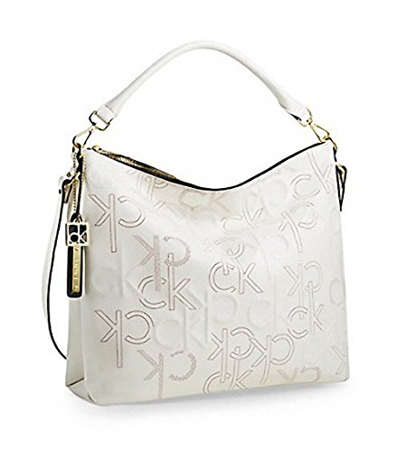 Calvin Klein Kenzie Hobo Bag Purse Handbag White