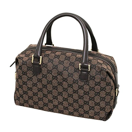 Gucci Brown Canvas Joy Boston Bag Handbag 272375