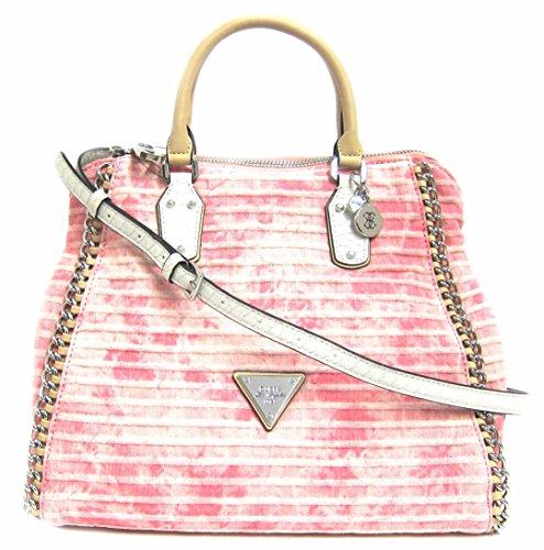 GUESS Amelle Retro Satchel Bag, Rose
