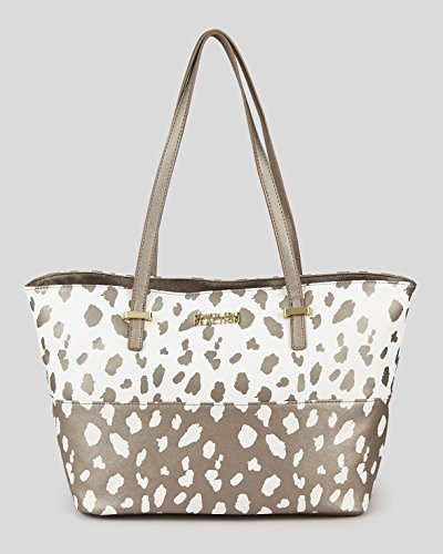 Kenneth Cole Reaction Duplicator Spot Print Tote Pff White/ Metalic
