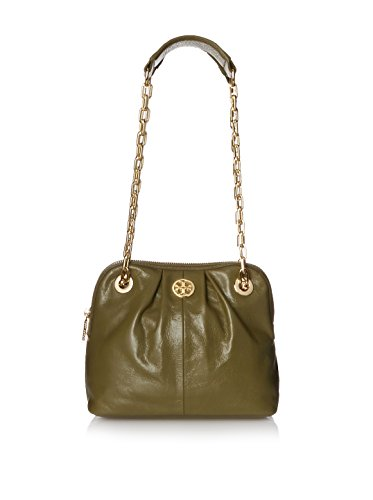Tory Burch Leather Dena Shoulder Bag Crossbody (Green Khaki)