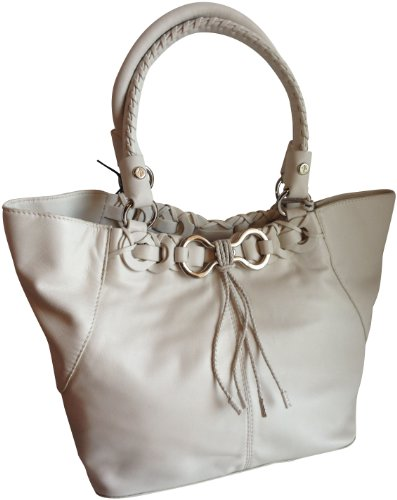 Cole Haan Serena Small Tote Genuine Leather Ivory