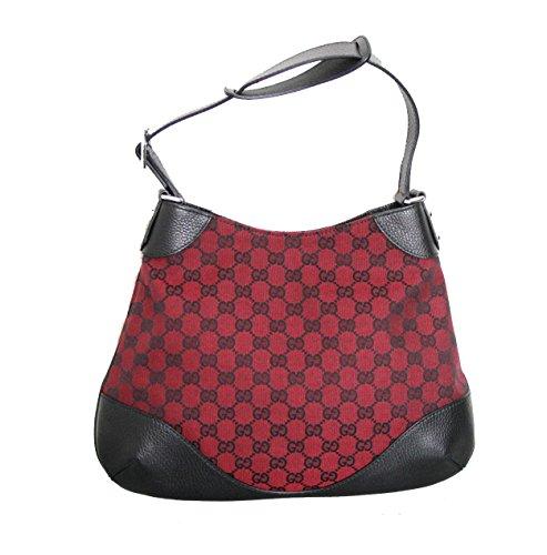 Gucci Red Canvas Hobo Handbag Shoulder Bag 272386