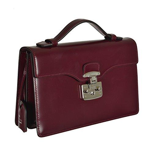 Gucci Women's Deep Purple Leather Satchel Handbag Bag