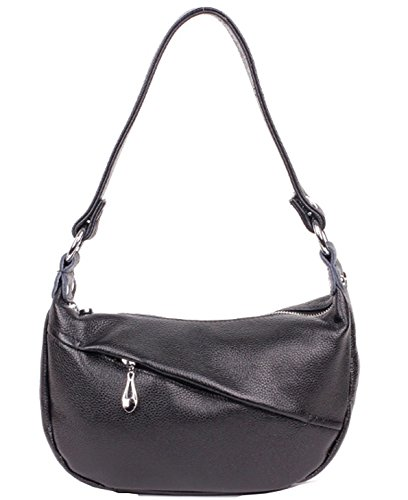 Heshe® Soft Genuine Leather Hobo Shoulder Bag Tote Top Handle Cross body Purse Messenger Handbag For Women
