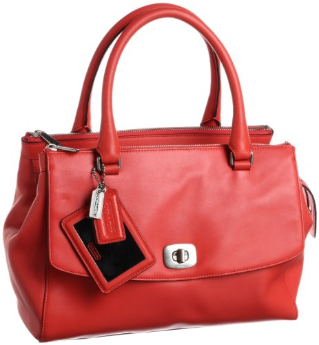 Coach Legacy Pinnacle Harper Satchel 23562 Poppy