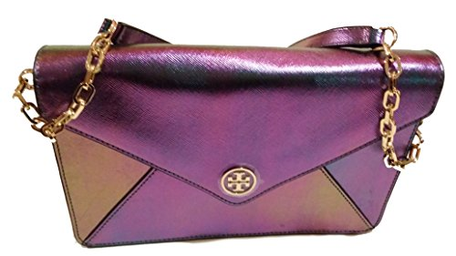 Tory Burch Robinson Hologram Large Envelope Clutch