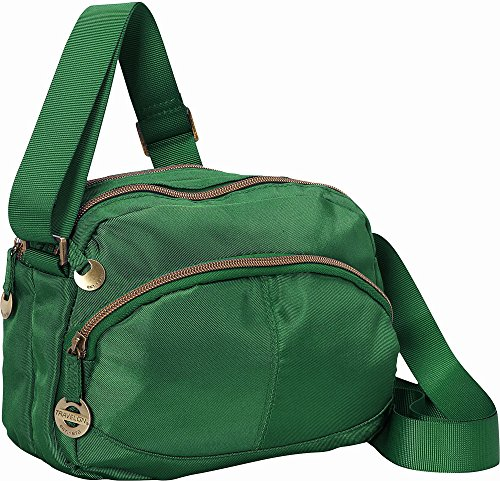 Travelon Twill Crossbody with RFID Protection Emerald