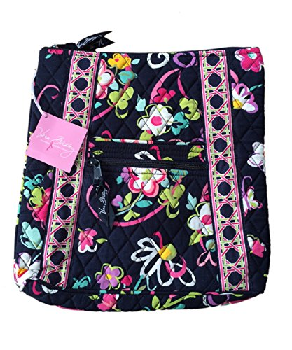 Vera Bradley Hipster in Ribbons with Solid Red Interior