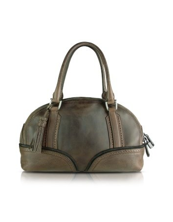 Pineider 1774 Calfskin Skittle bag Dark Brown