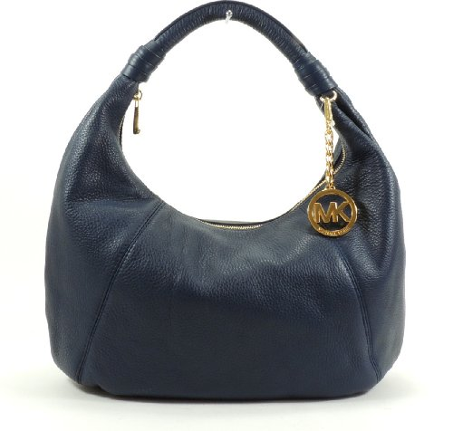 MICHAEL Michael Kors Leather Item Hobo (Navy)