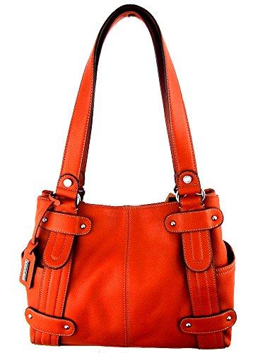 Tignanello Perfect 10 Studded Shopper in Burnt Orange