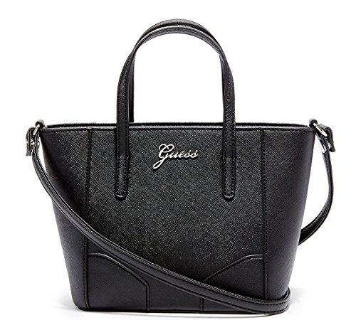 Guess Sonja Mini Carryall Satche Tote Bag Handbag Purse, Black