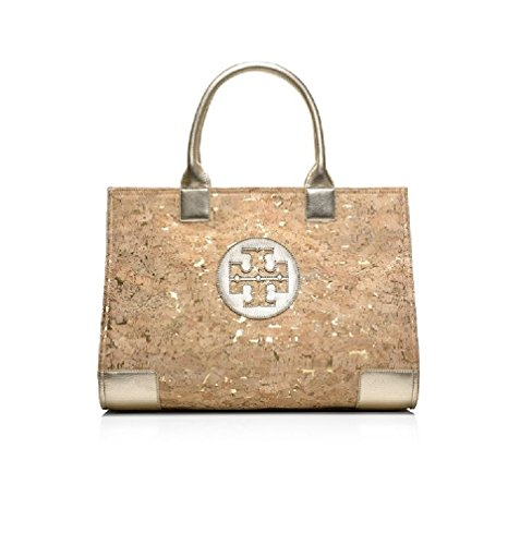 Tory Burch Ella Tote Cork Gold Bag