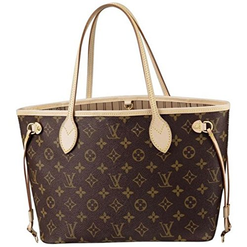 LOUIS V BAGS Monogram Handbags for Women Original:MONOGRAM CANVAS NEVERFULL MM of Coated Leather Wallet Canvas on Clearance.
