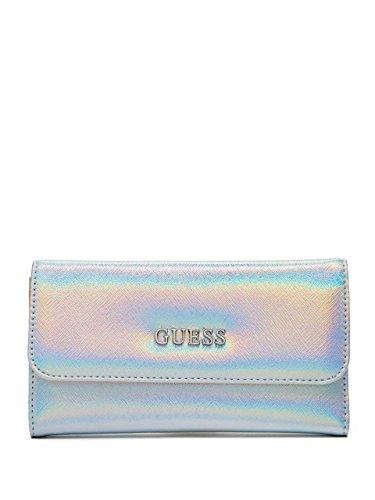 GUESS Doheny Women's SLG Slim Clutch Wallet, Silver
