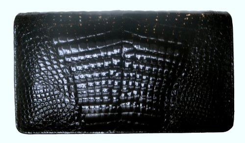 Julia Bk – Genuine Alligator Skin Clutch Handbag