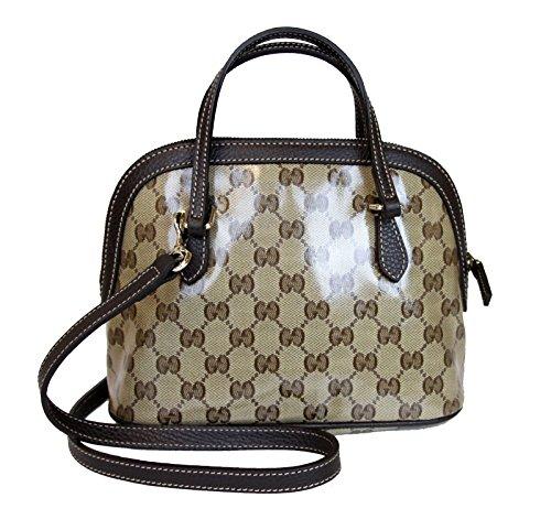 Gucci Beige Coated Canvas Cross Body Mini Dome Convertible Purse 341504