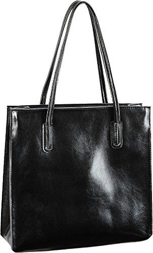 Yahoho Women's Simple Style Genuine Leather Shopper Shoulder Bag Square