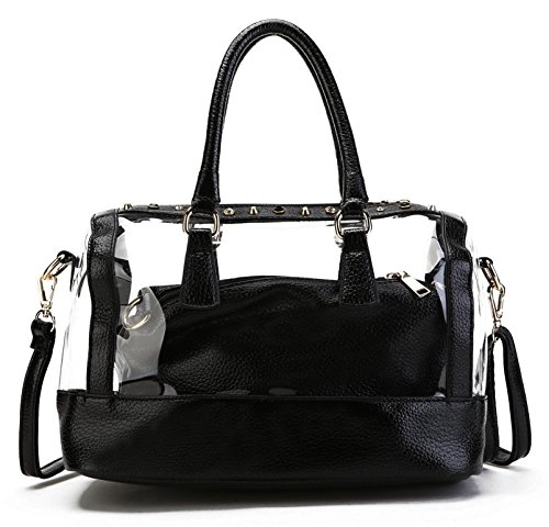 Scarleton Transparent Center Satchel H1545