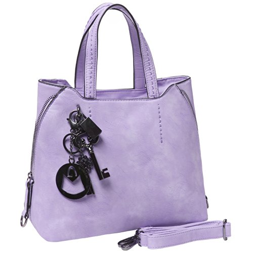 MG Collection FIONA Trendy Charm Accents Everyday Tote Style Shopper Handbag