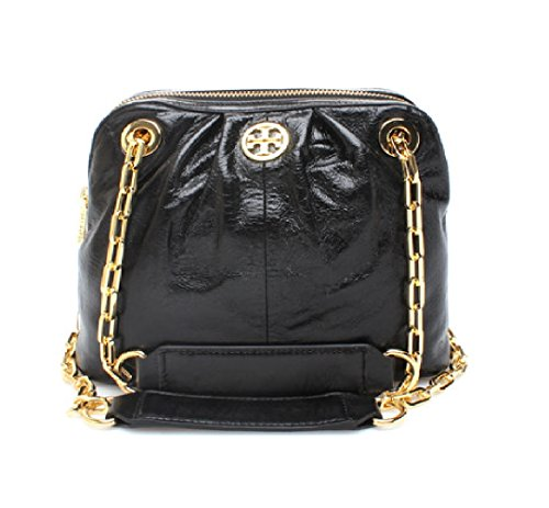 Tory Burch Black Dena Shoulder Bag Crossbody (Black)