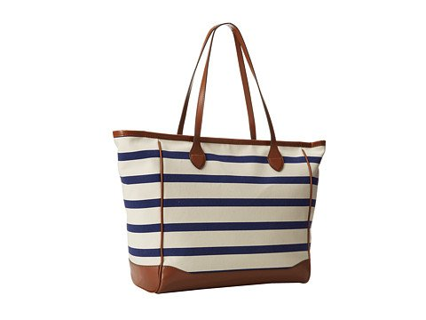 LAUREN by Ralph Lauren Women's Lauren Canvas Tote Blue/Navy