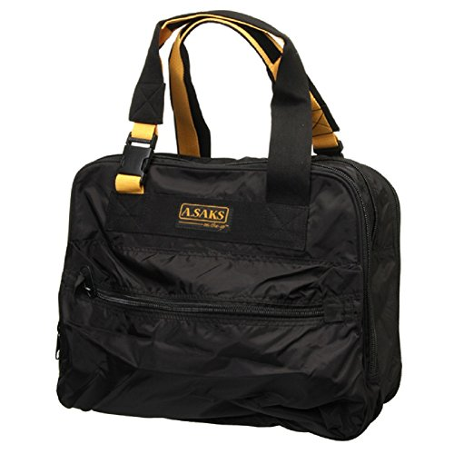 A Saks Deluxe Expandable Shoulder Tote