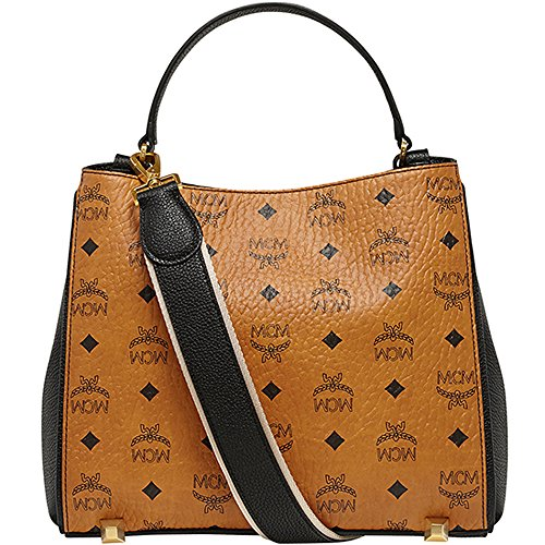 [New Arrival] 2015 SS MCM Authentic CORINA VISETOS Small Shoulder Bag – Cognac MWS5SCN04CO